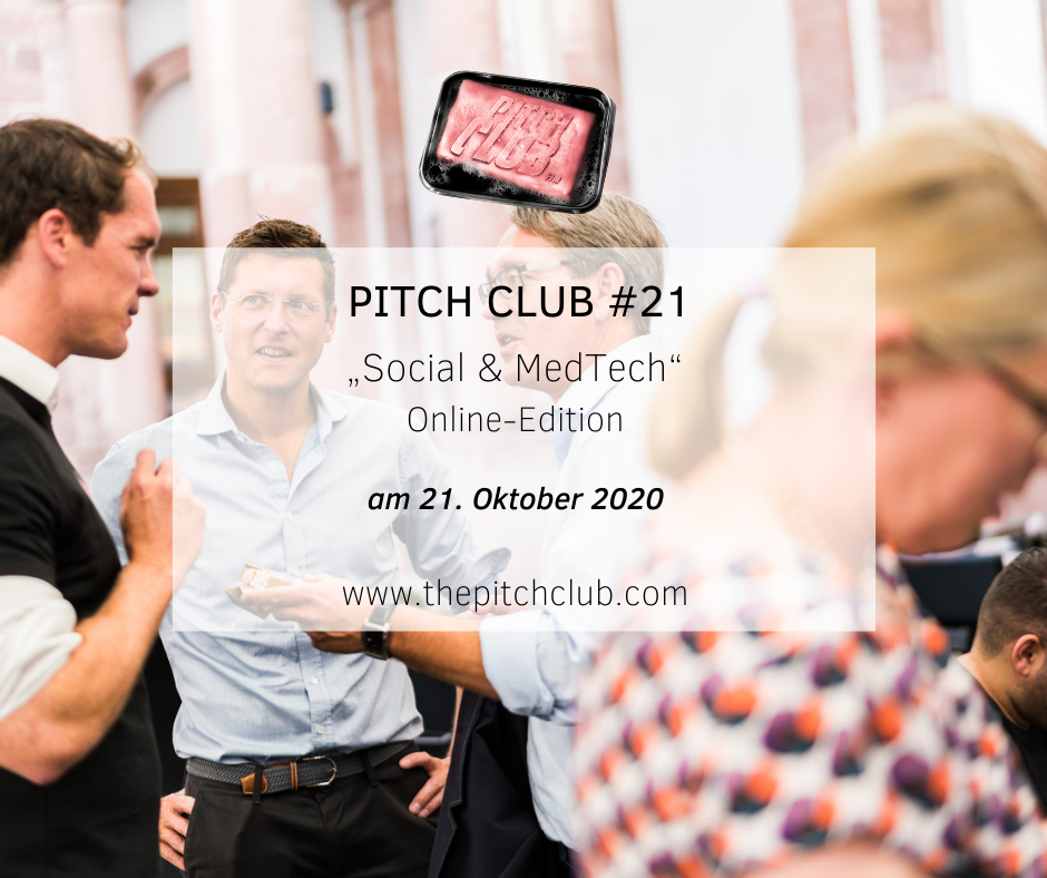 "Pitch Club #21 ""Social and MedTech"" Online-Edition"