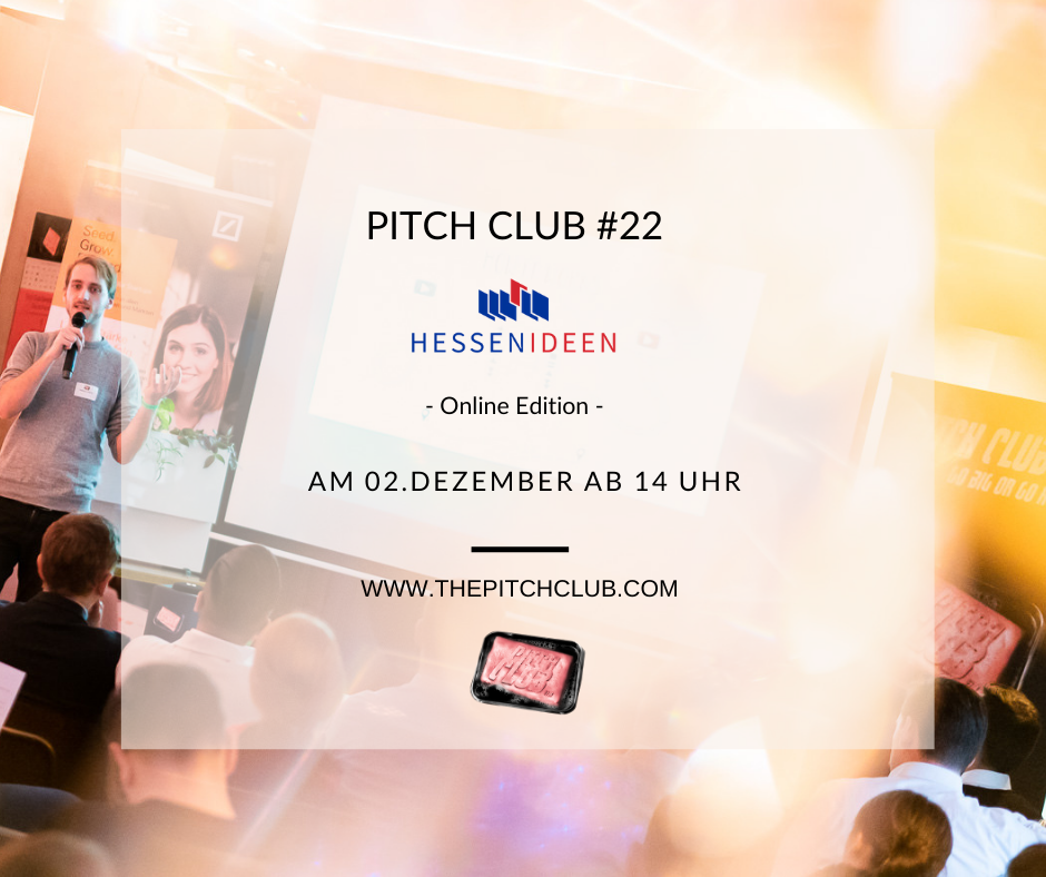 "Pitch Club #22 ""Hessen Ideen"" Online-Edition"