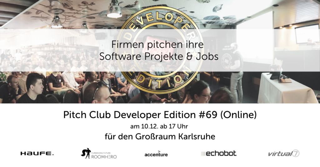Pitch Club Developer Edition #69 (Online) in Karlsruhe